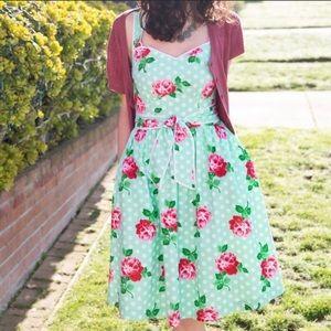ModCloth Sight for sunrise mint floral dress